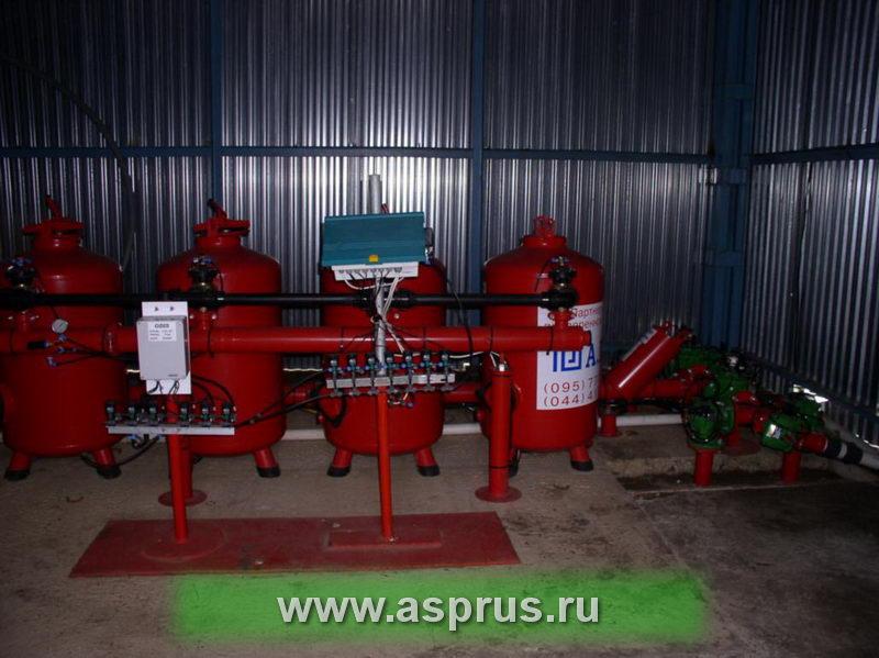 Станция фильтрации фирмы АИК-АГР  на плантацию земляники
