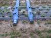 Подключение капельных линий к лайфлету на плантацию земляники