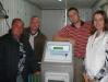 Установка компютера по питанию  на плантацию земляники в ЗАО Выселковское Краснодарского края
