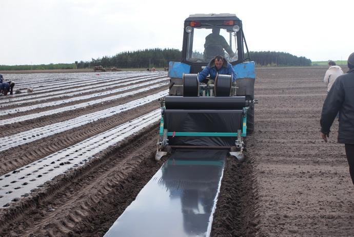 Многофункциональная машина для закладки плантации земляники