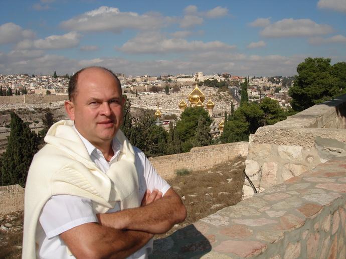 Муханин И.В. на фоне старого города Иерусалима