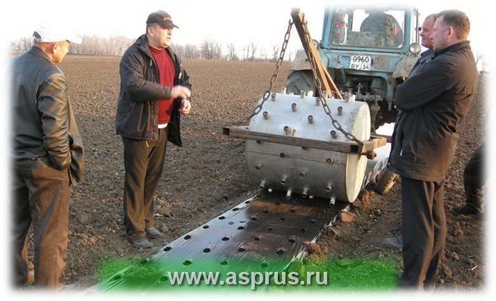 Технические  средства  для  закладки  интенсивных насаждений  земляники