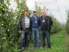 Говорущенко Николай Владимирович, Королев Виталий Викторович и Муханин Игорь Викторович в саду яблони