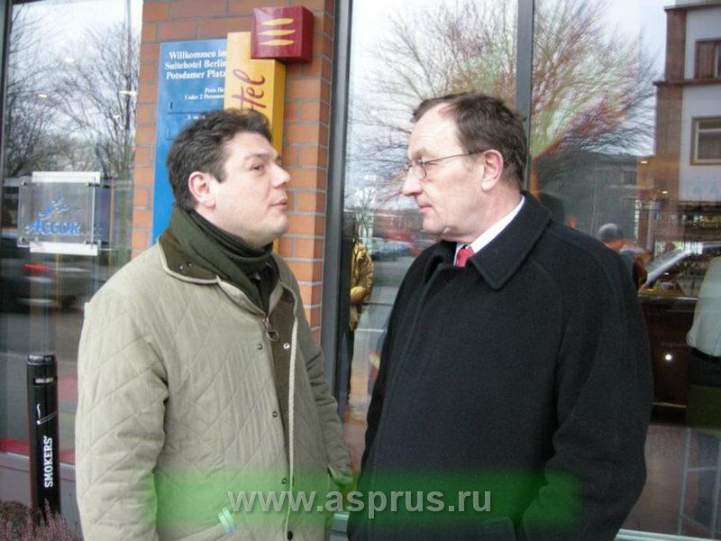 Koen Carolus (Бельгия) и Кшиштоф Херманович (Польша) в Берлине на выставке Фрутлогистик