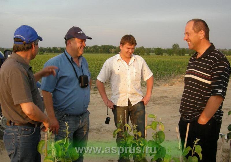 Посещение членами Ассоциации садоводов-питомниководов питомника Ришарда Новаковского.